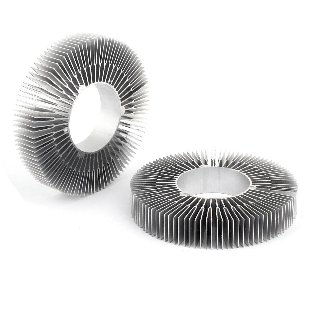Cylindrical 115mmx50mmx20mm LED Ceiling Lights Heatsink Cooling Fin 2 PCS