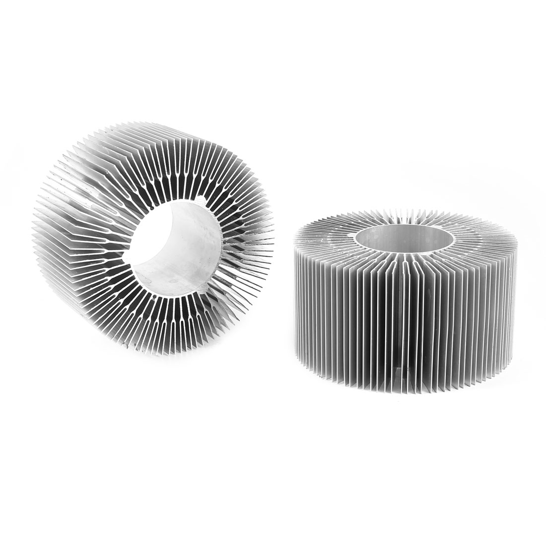 2 Pieces Round Shape 115mm OD 50mm ID 60mm Height LED Light Heatsink Cooling Fin
