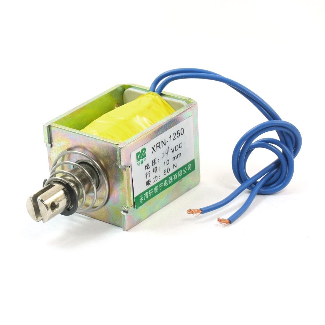XRN-1250 DC24V Pull Type 10mm 50N Open Frame Solenoid Electromagnet