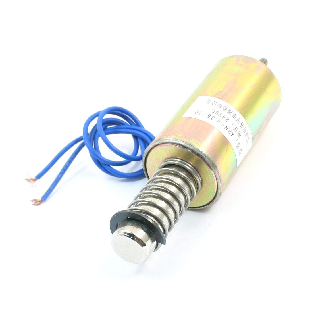 16mm/500g Pull Type Plunger Spring Return Tubular Solenoid Electromagnet 24V