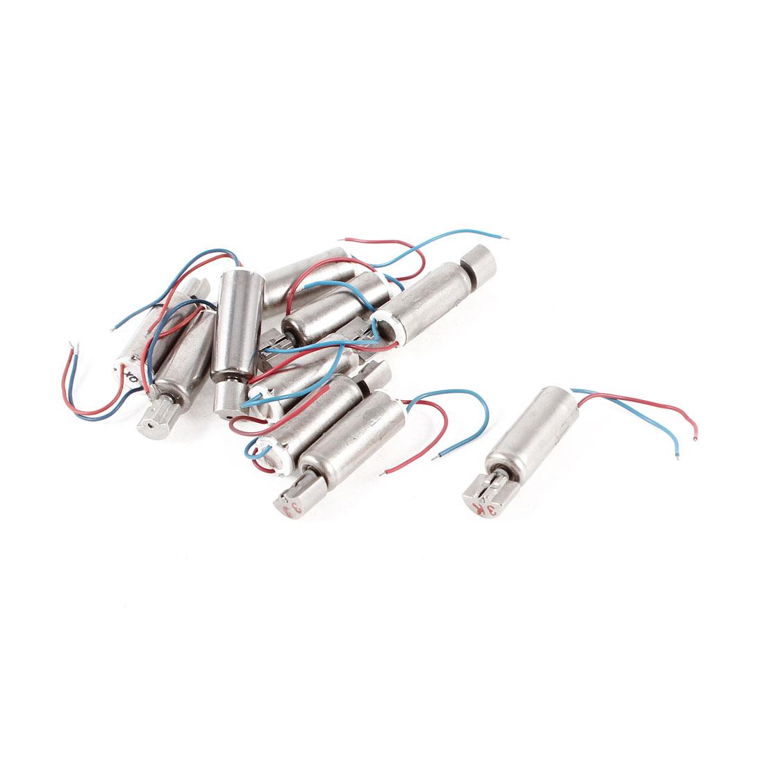 10pcs Miniature Vibration Motor DC 3V 3500RPM for Phones Pagers Robotics Control Sticks
