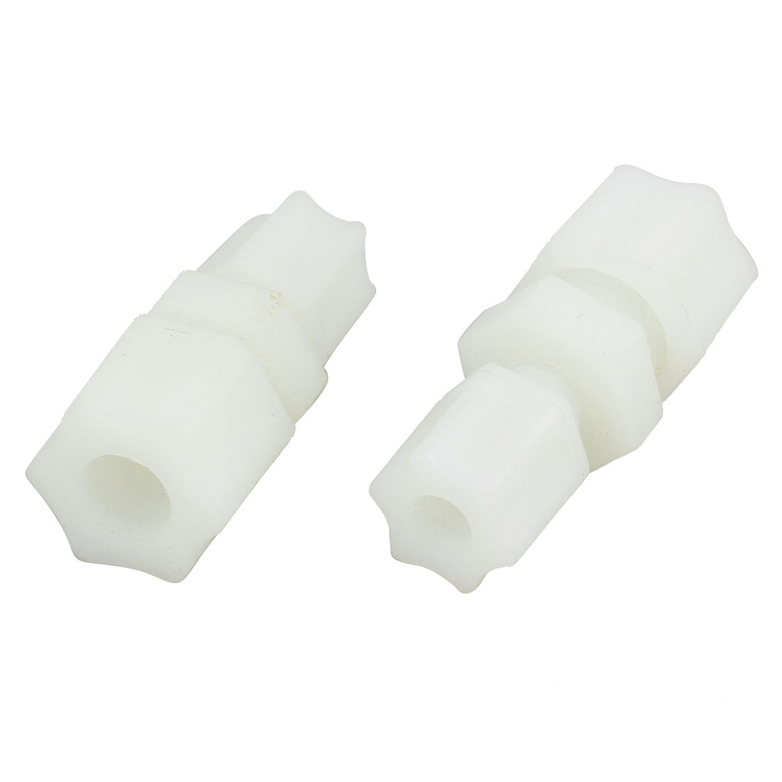 2 Pcs 1/4PT 3/8PT Thread Straight Connector Water Pipe Fitting