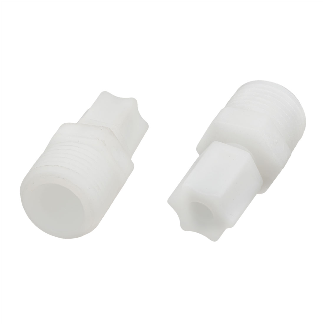 1/2PT Male Thread Plastic Straight Quick Fitting Connector 2 Pcs