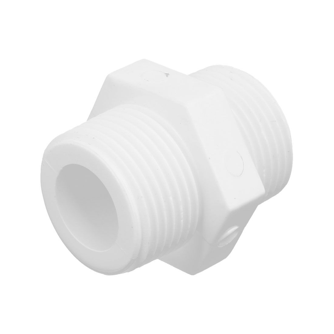 3/4PT Male to Male Thread PVC-U Straight Quick Fitting Connector