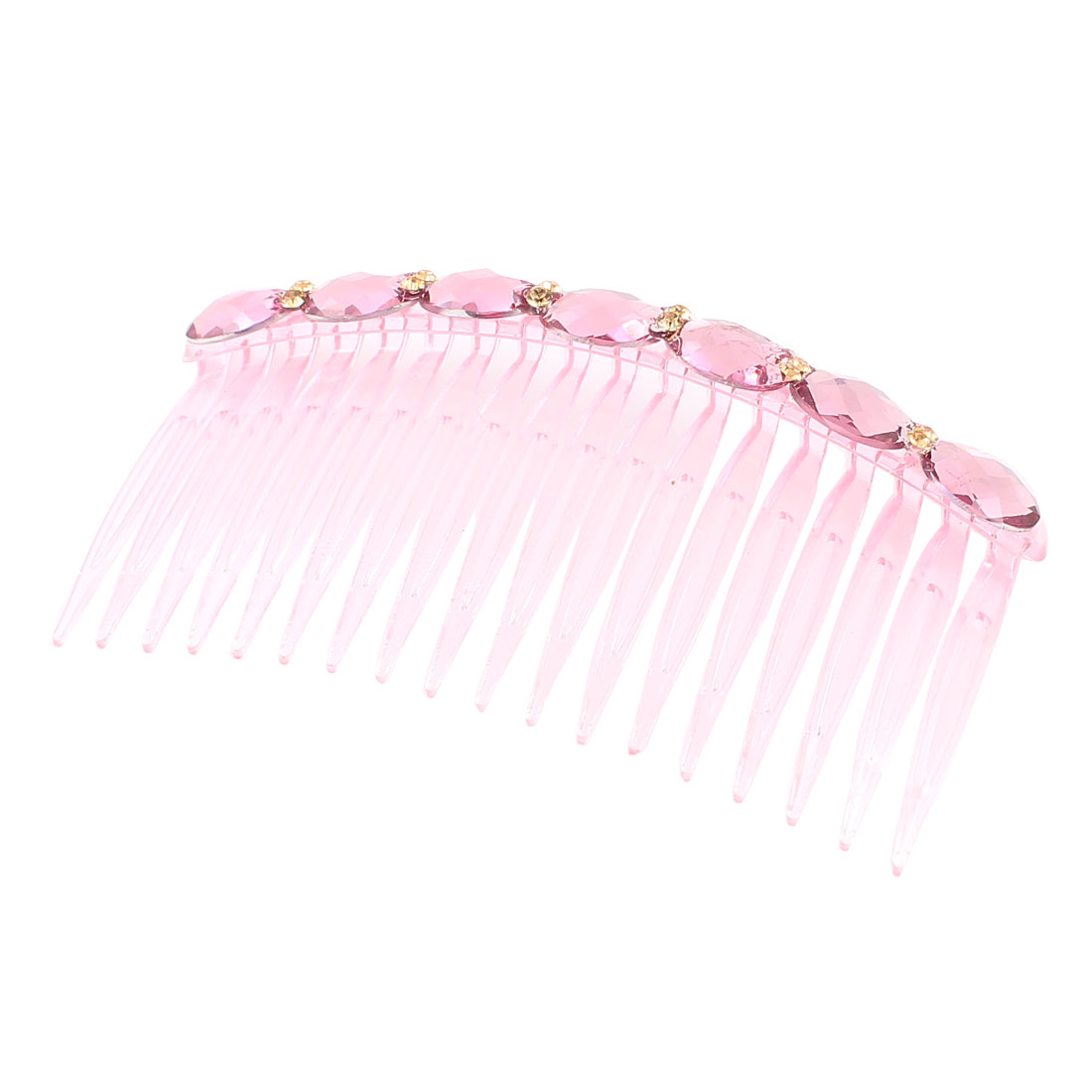 Lady Light Purple Round Faceted Bead Detail DIY Hairstyle Comb Hair Pin Clip