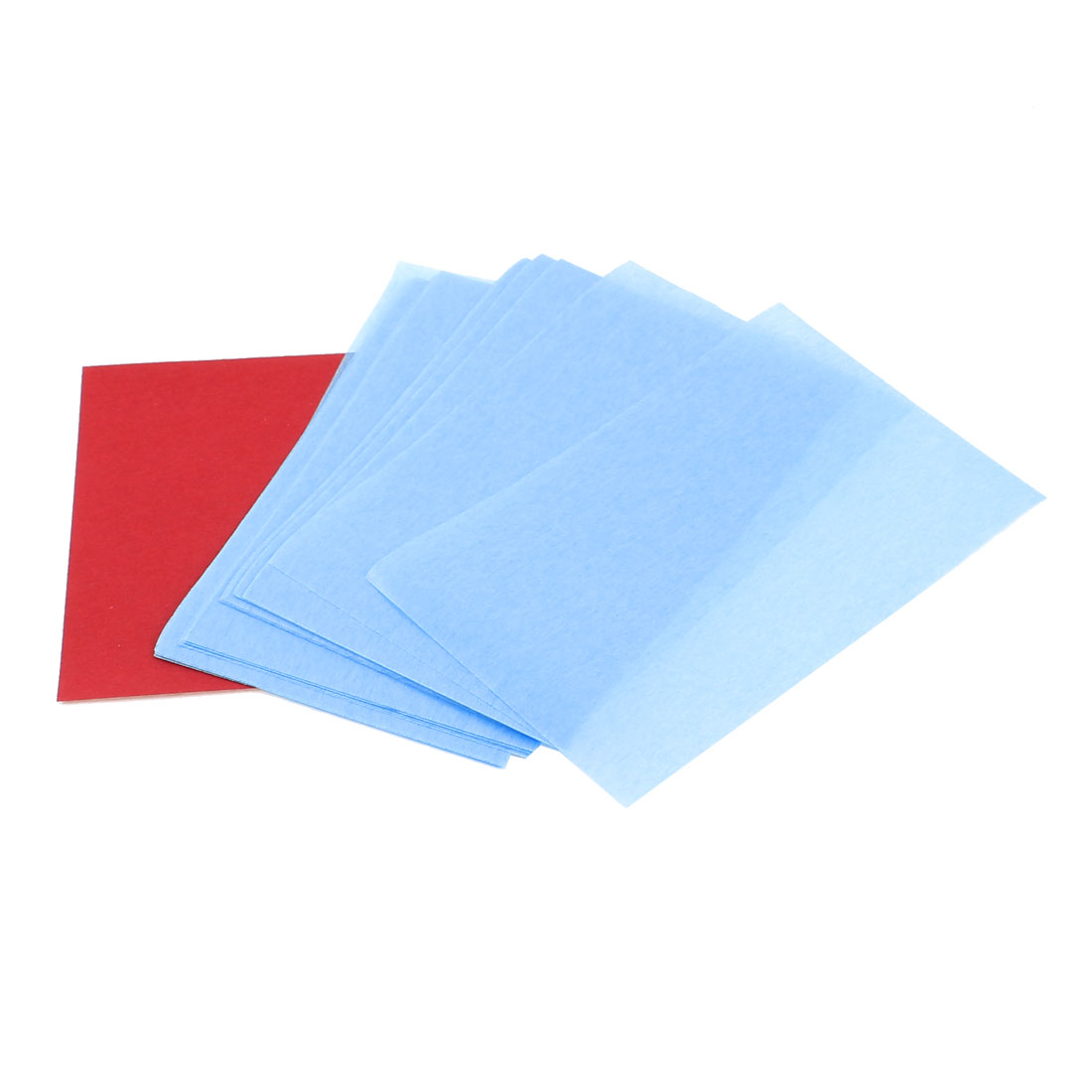 51 Sheets Travel Cosmetic Makeup Facial Oil Blotting Film Paper Blue