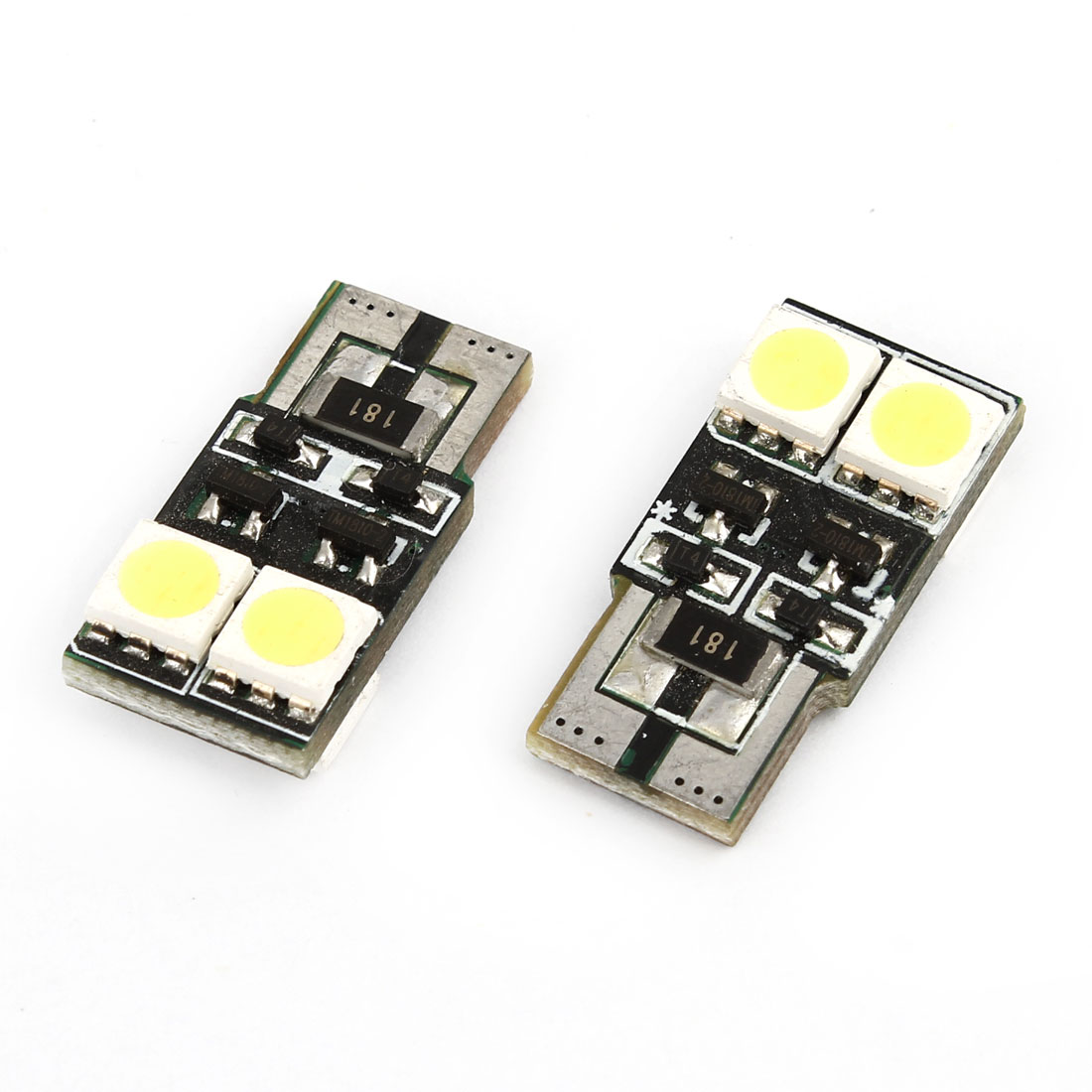 2 Pcs T10 White 5050 SMD 4 LED Car Dashboard Light Signal Turning Lamp Internal