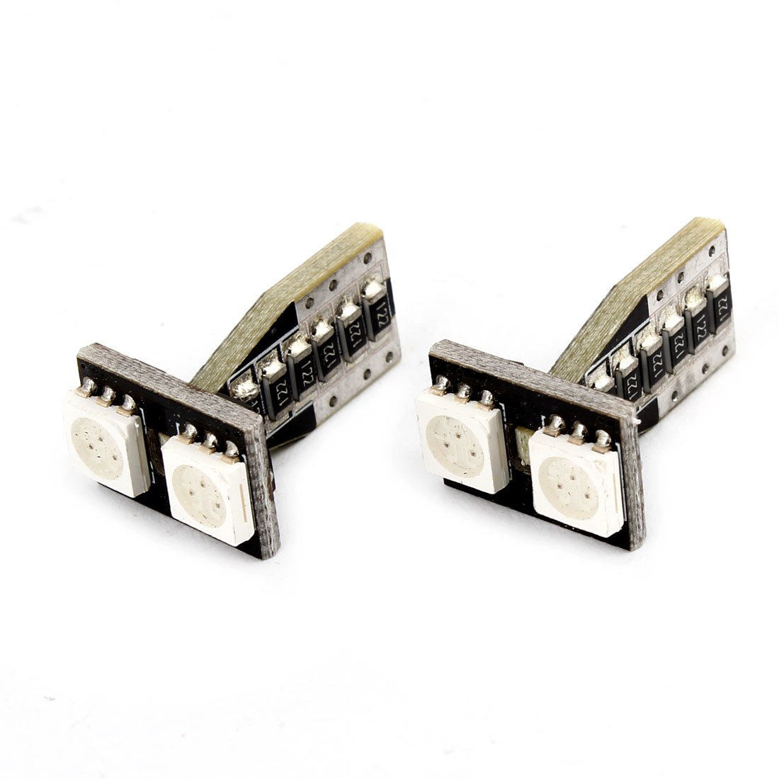 Pair T10 Yellow 5050 SMD 2 LED Car Dashboard Signal Light Turning Lamp internal