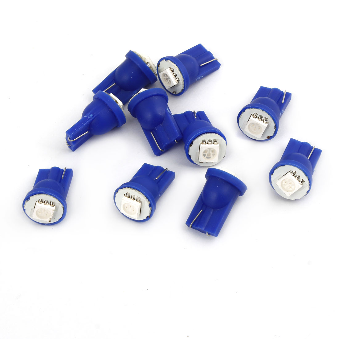 10 Pcs T10 Wedge Blue 5050 SMD LED 12V Indicator Lamp Light Bulbs for Car Internal