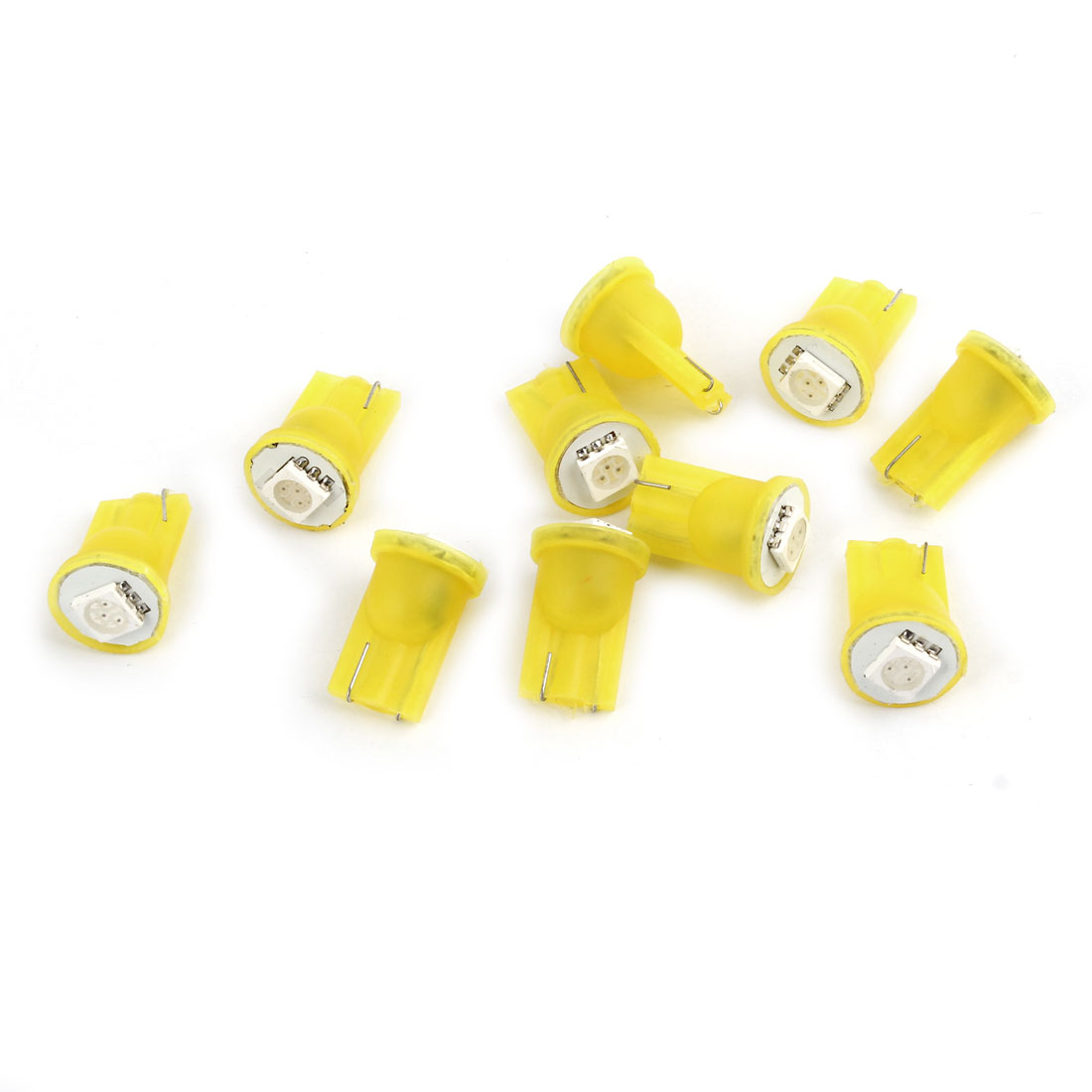 Car Internal T10 Yellow Light 5050 SMD LED Signal Turning Bulbs Tail Lamps 10 Pcs