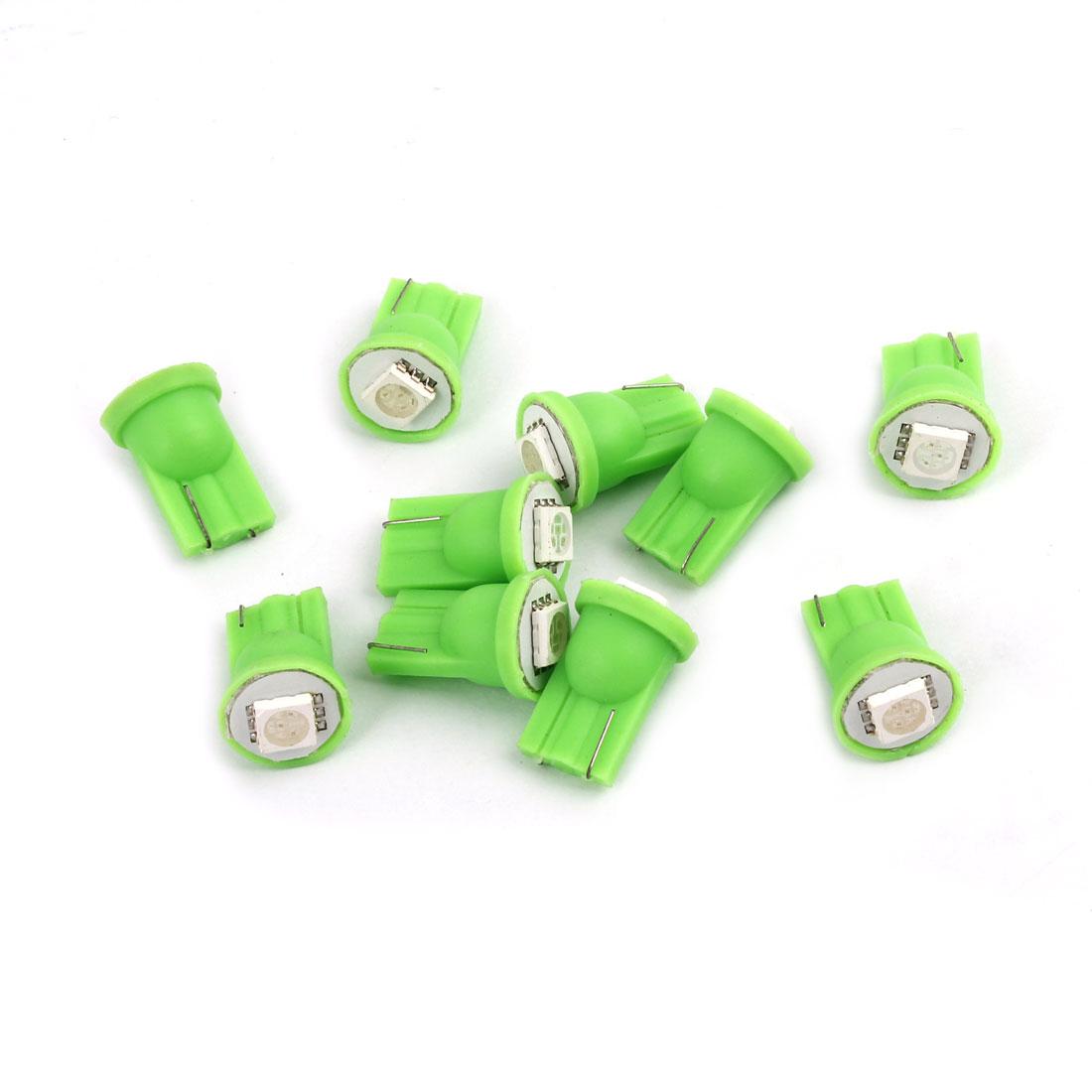 10 Pcs Vehicle T10 Green 5050 SMD LED Turning Signal Light Dash Bulbs Internal
