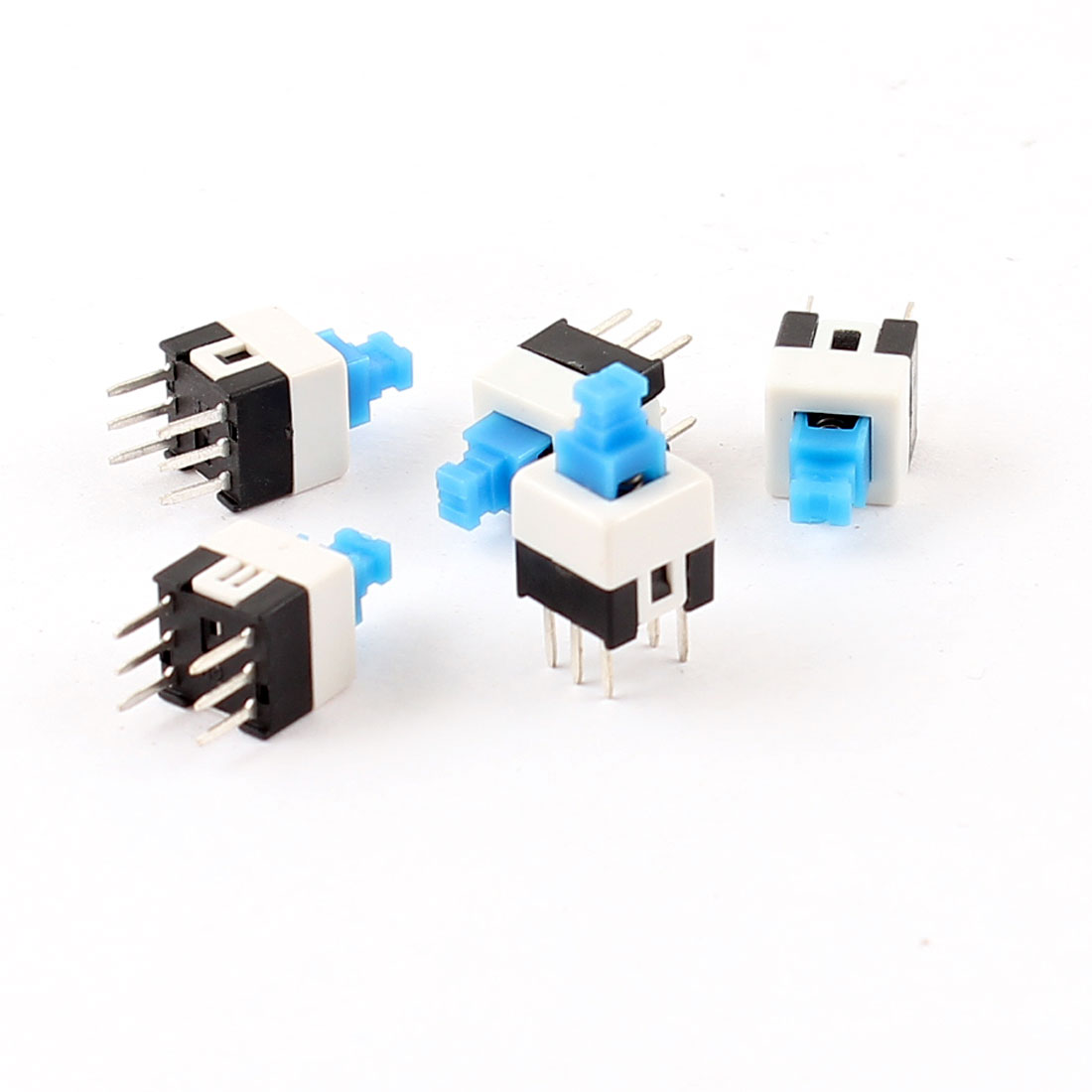 5 Pcs 6 Pin PCB Light Touch Locking Push Button Tact Tactile Switch 7mm x 7mm