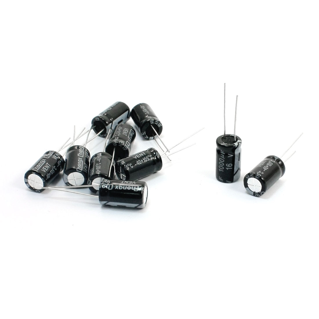10pcs 17mm x 10mm 4mm Lead Pitch 1000uF 16V Electrolytic Capacitors