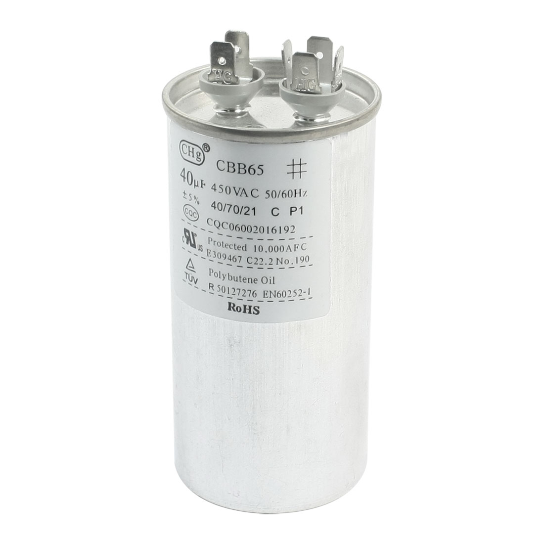 AC 450V 6 Pin Polypropylene Film Air Conditioner Motor Capacitor 40uF CBB65