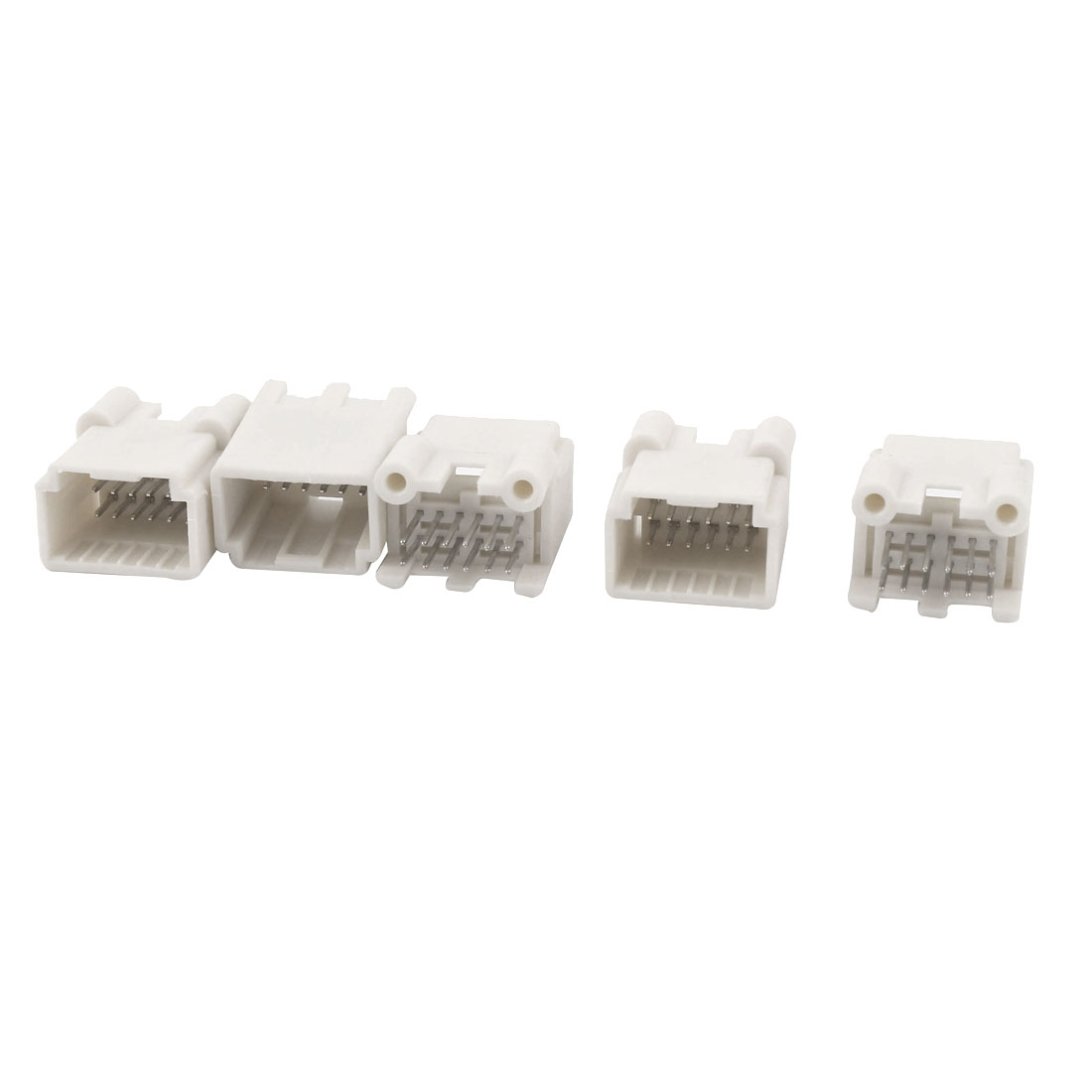 5PCS 12 Straight Pin 2.54mm Pitch Header Connector Socket Box White