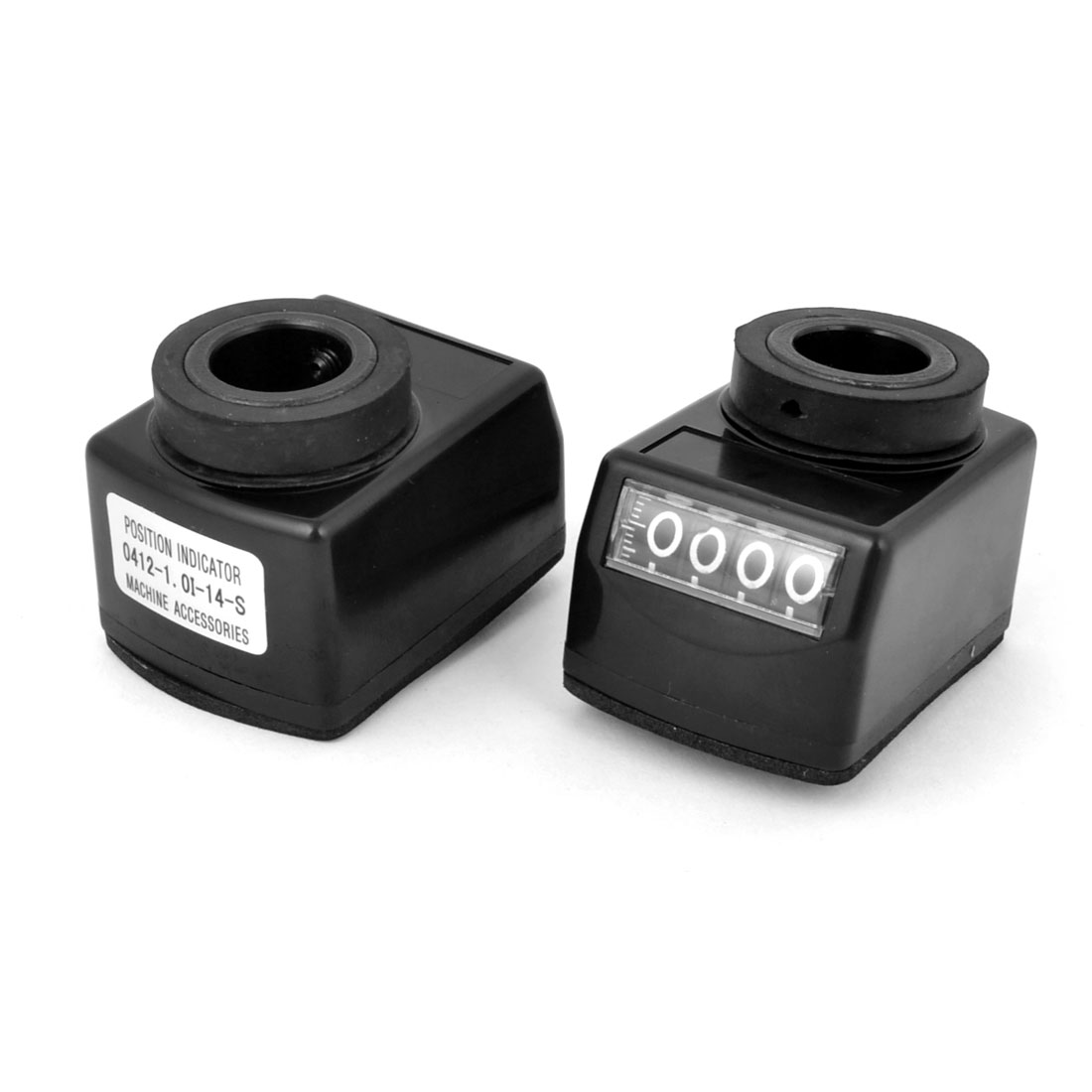 2pcs 1.0mm Axial Pitch Black Plastic Housing 0-99999 Range Digital Indicator