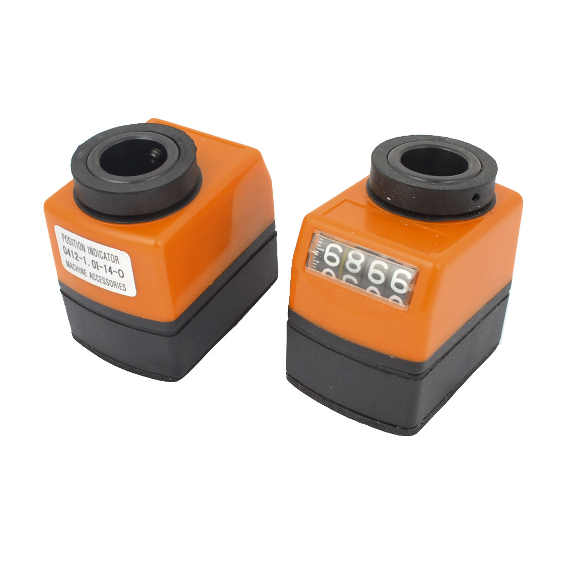 2PCS Vertical Clockwise 0-9999 Range Digital Position Indicator for Lathe
