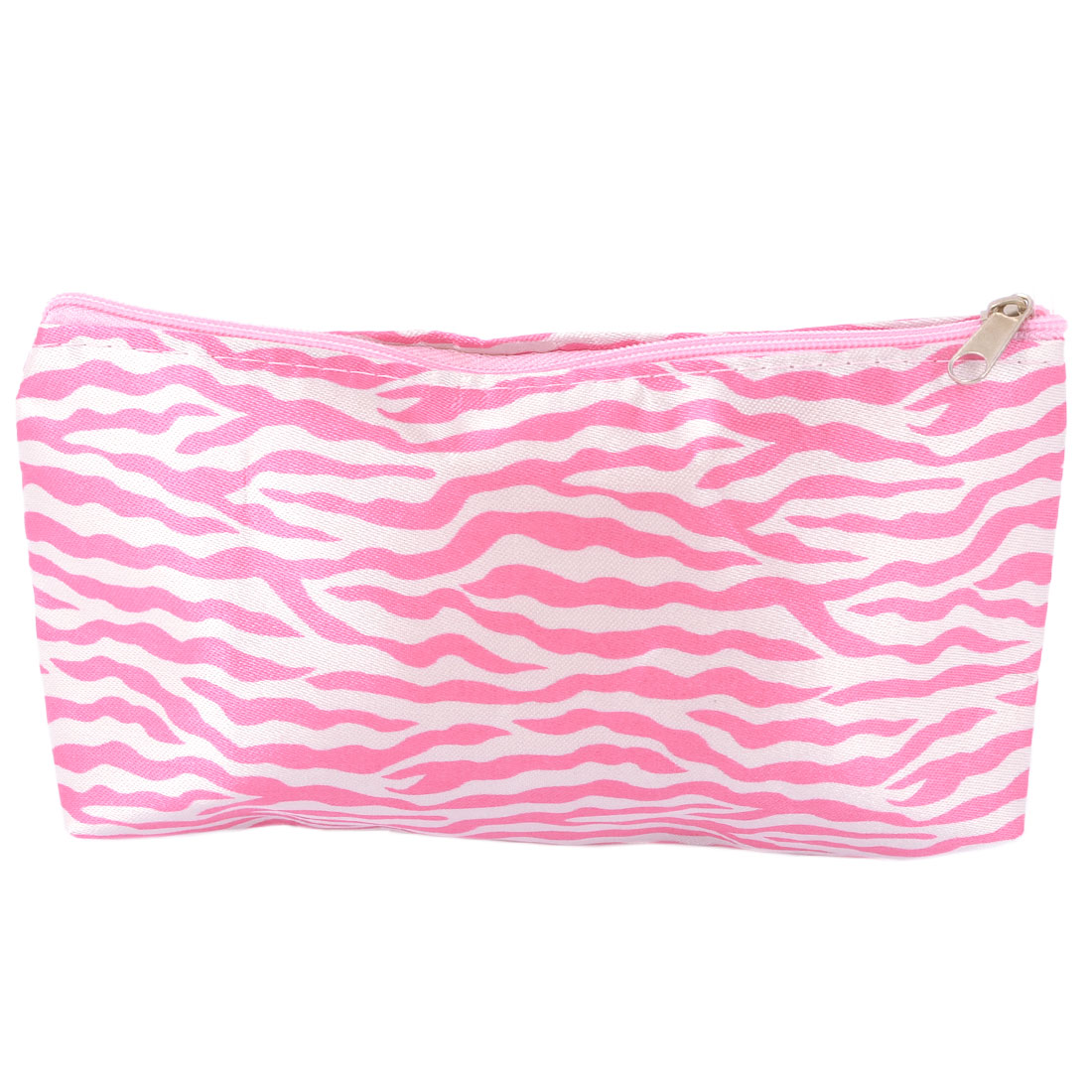 Pink Black Zebra Style Zippered Paillette Makeup Bag for Women