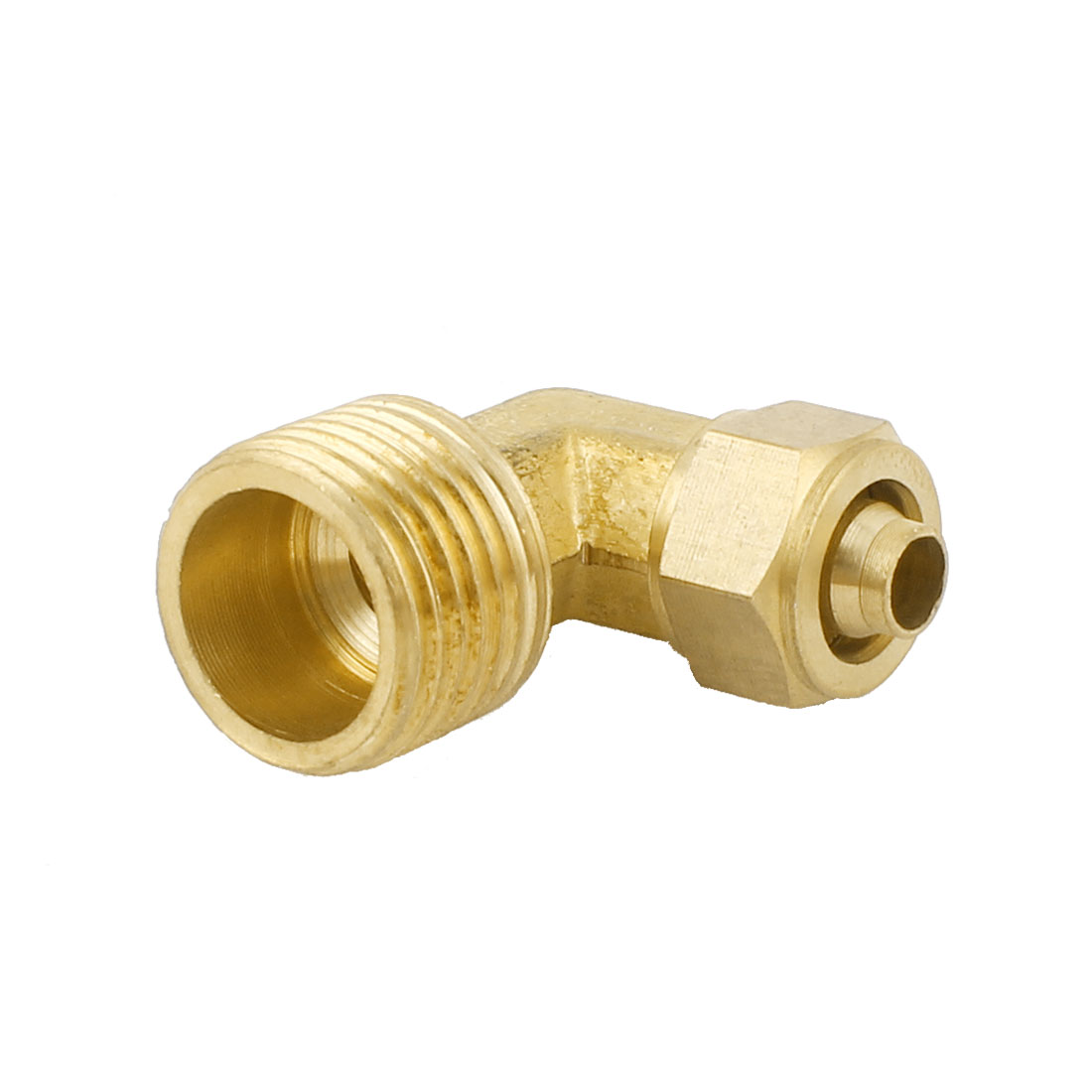 7mm Tube 1/2PT Thread L Shaped Elbow Quick Coupler Fitting