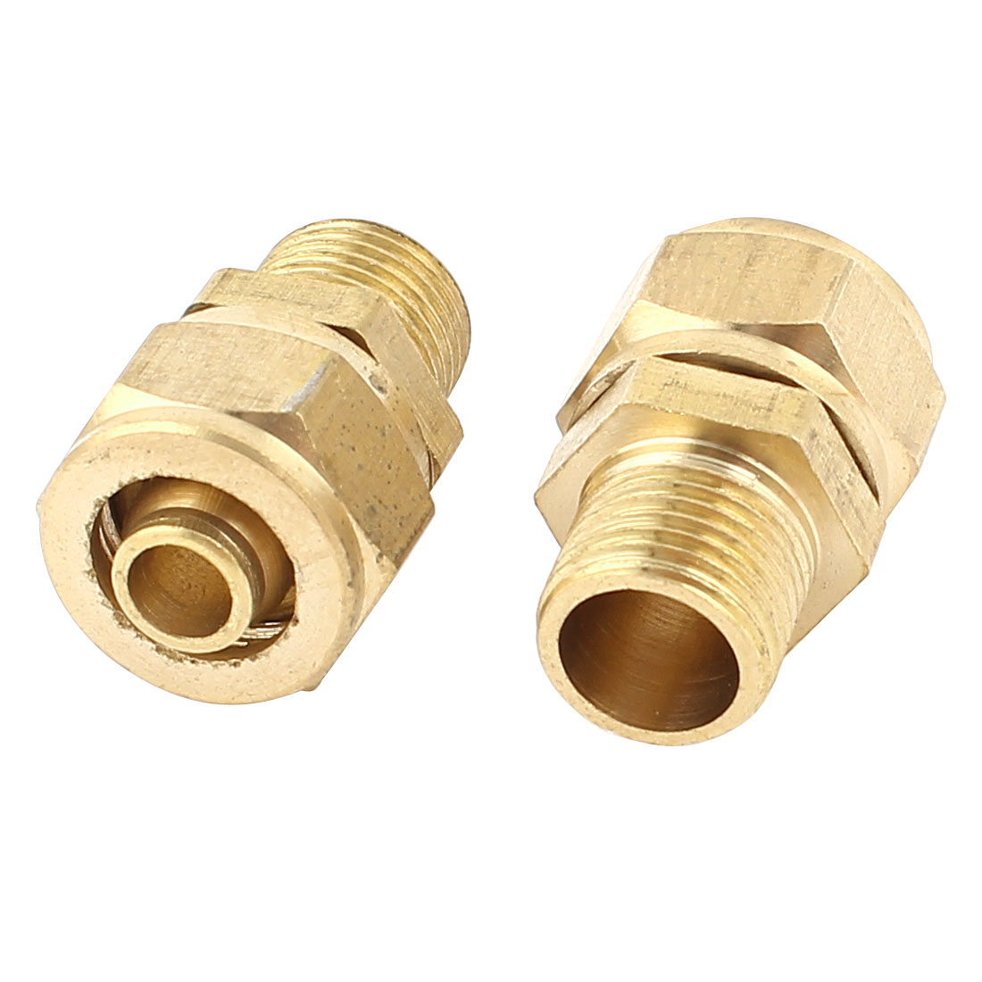 2pcs 1/8PT Male Threaded 6mm Pipe Air Pneumatic Quick Coupler Connector