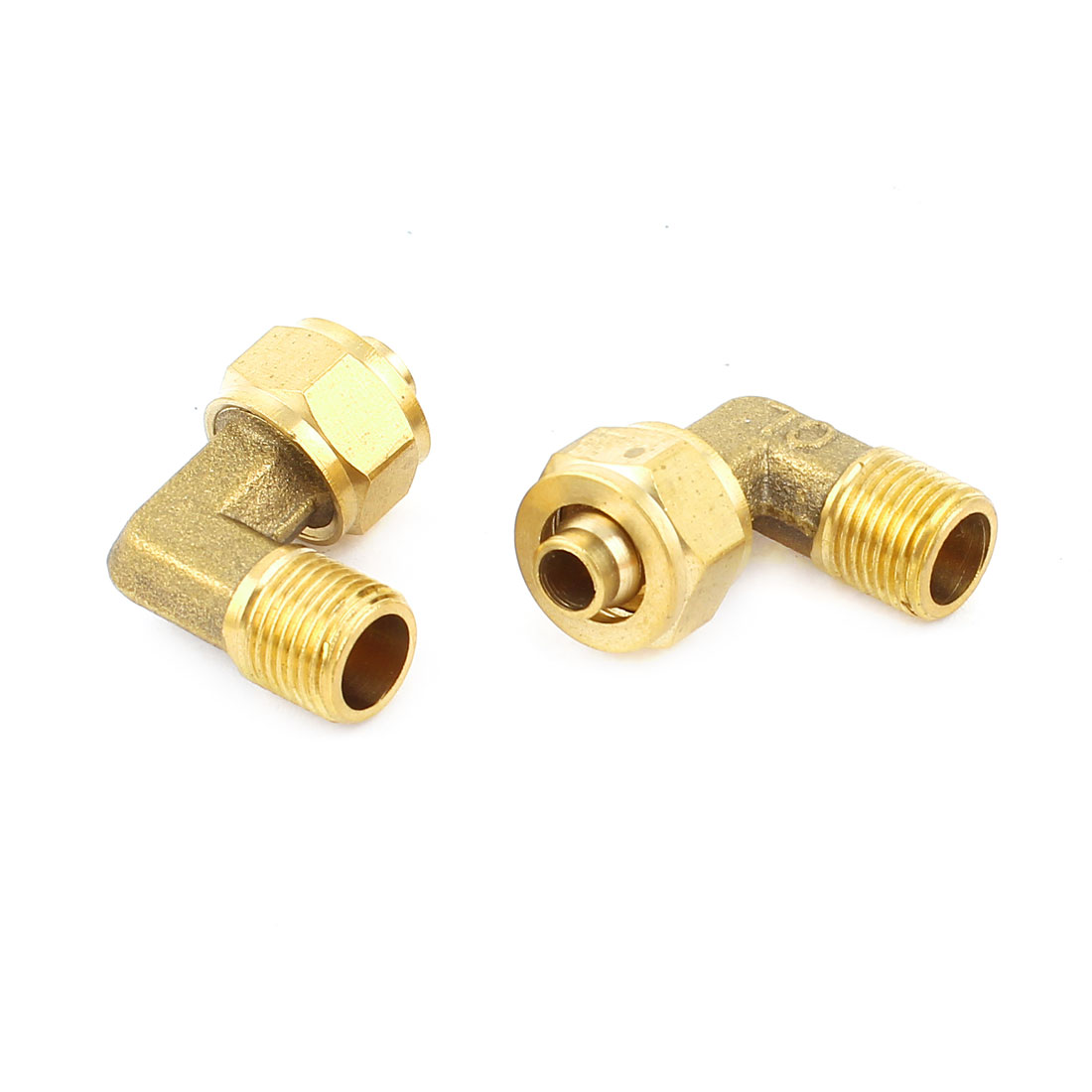 2Pcs 1/8PT Thread 90 Degree Elbow Quick Connector for 6mm Tubing