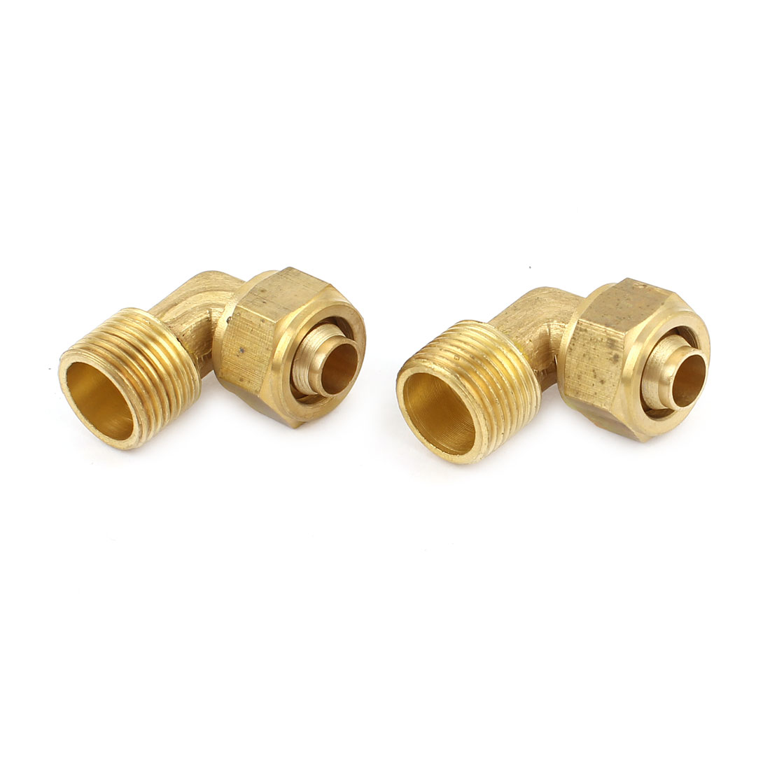 2pcs Air Pneumatic 8mm Tube 3/8PT Thread Right Angle Quick Couplers