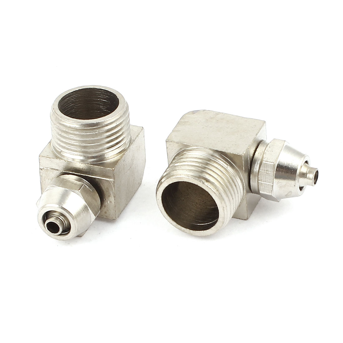 2pcs 9mm Tube 3/8PT Thread L Shaped Elbow Quick Coupler Fittings