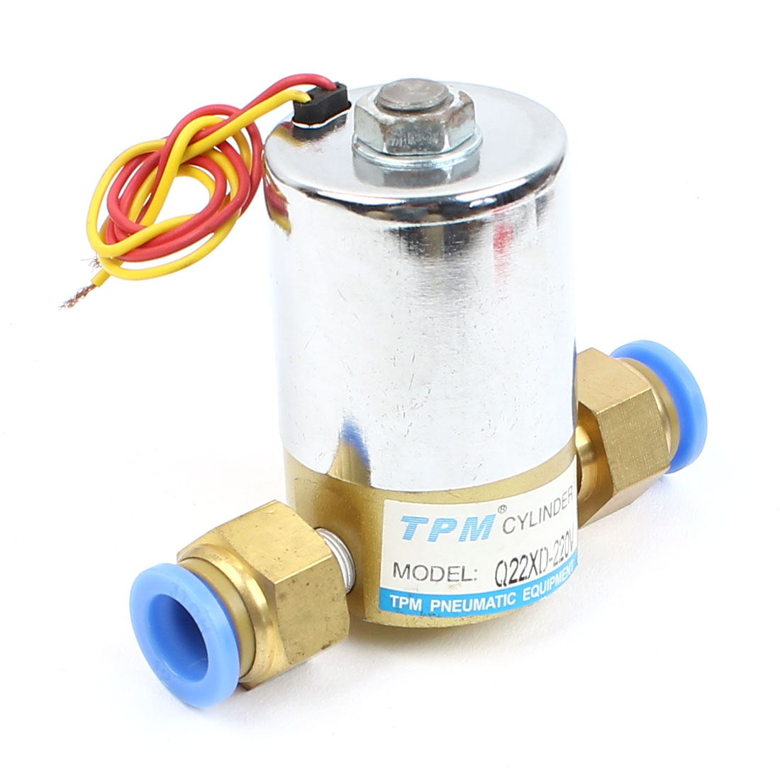 Direct Acting 2 Way PC12-01 Quick Fitting Solenoid Valve AC220V