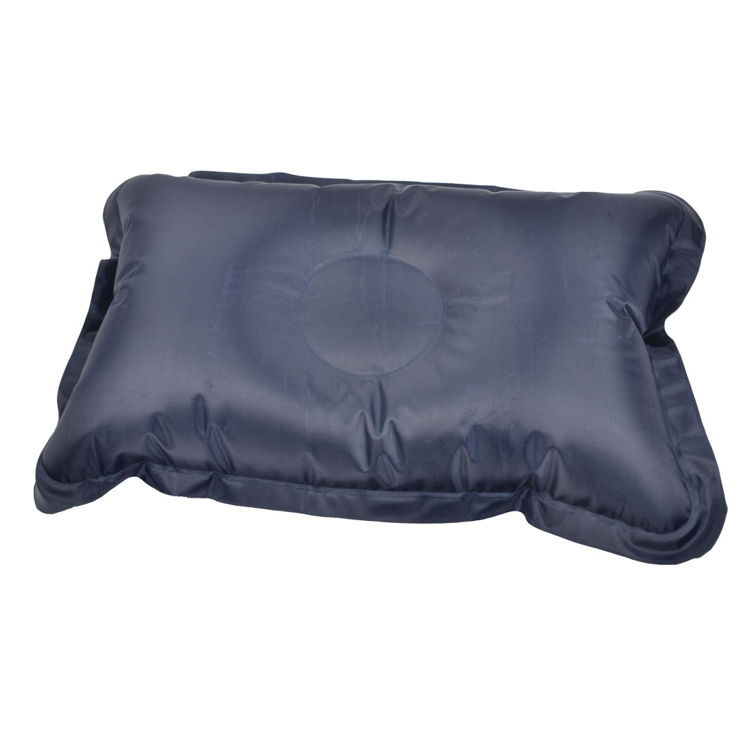 Home Dark Blue Nylon Surface Inflatable Pillow Neck Head Cushion
