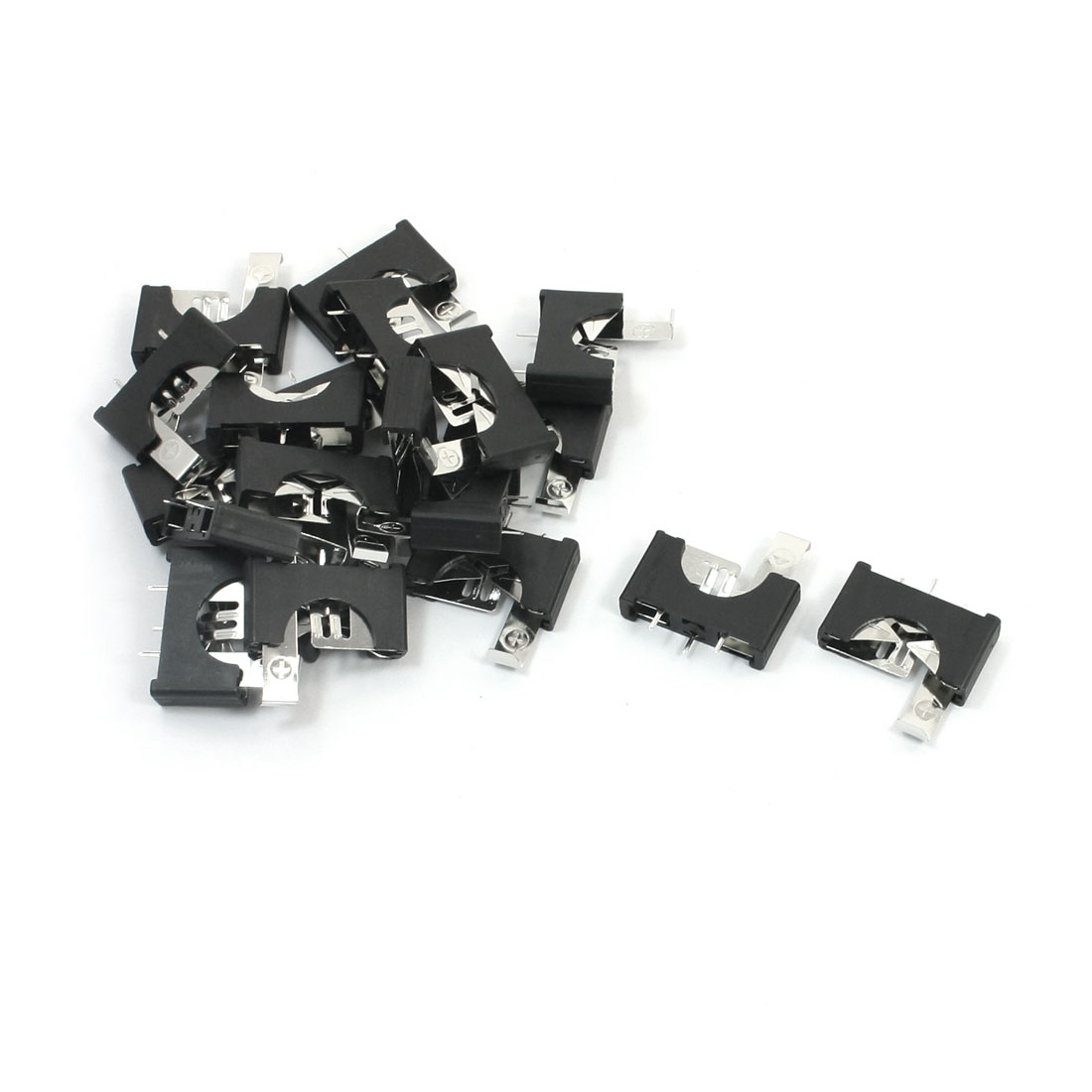 20 Pcs 3 Pins Plastic Housing CR2025 Coin Lithium Cell Button Battery Holder Socket Case Container