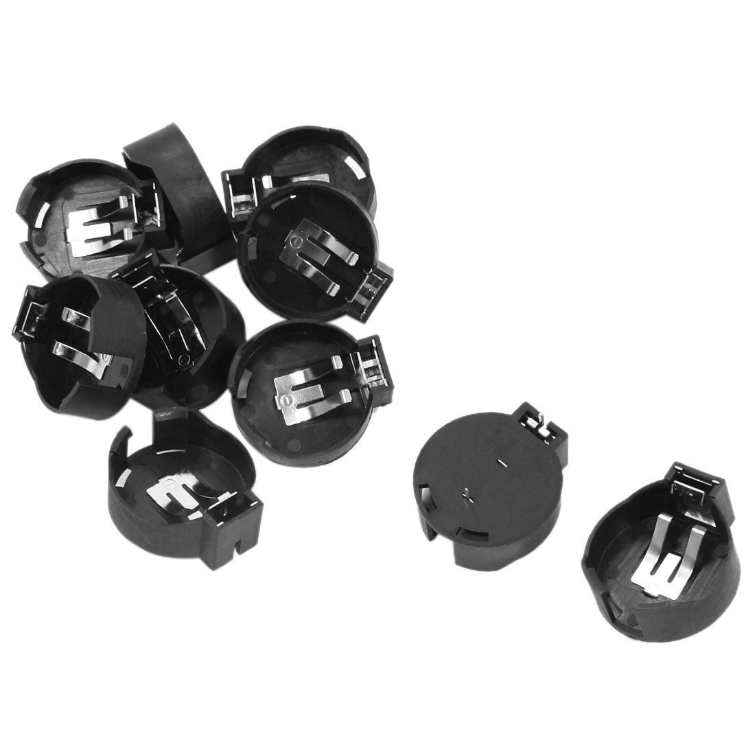 10 Pcs Black Plastic Shell Lithium Coin Cell Button Battery Holder Socket for CR2477
