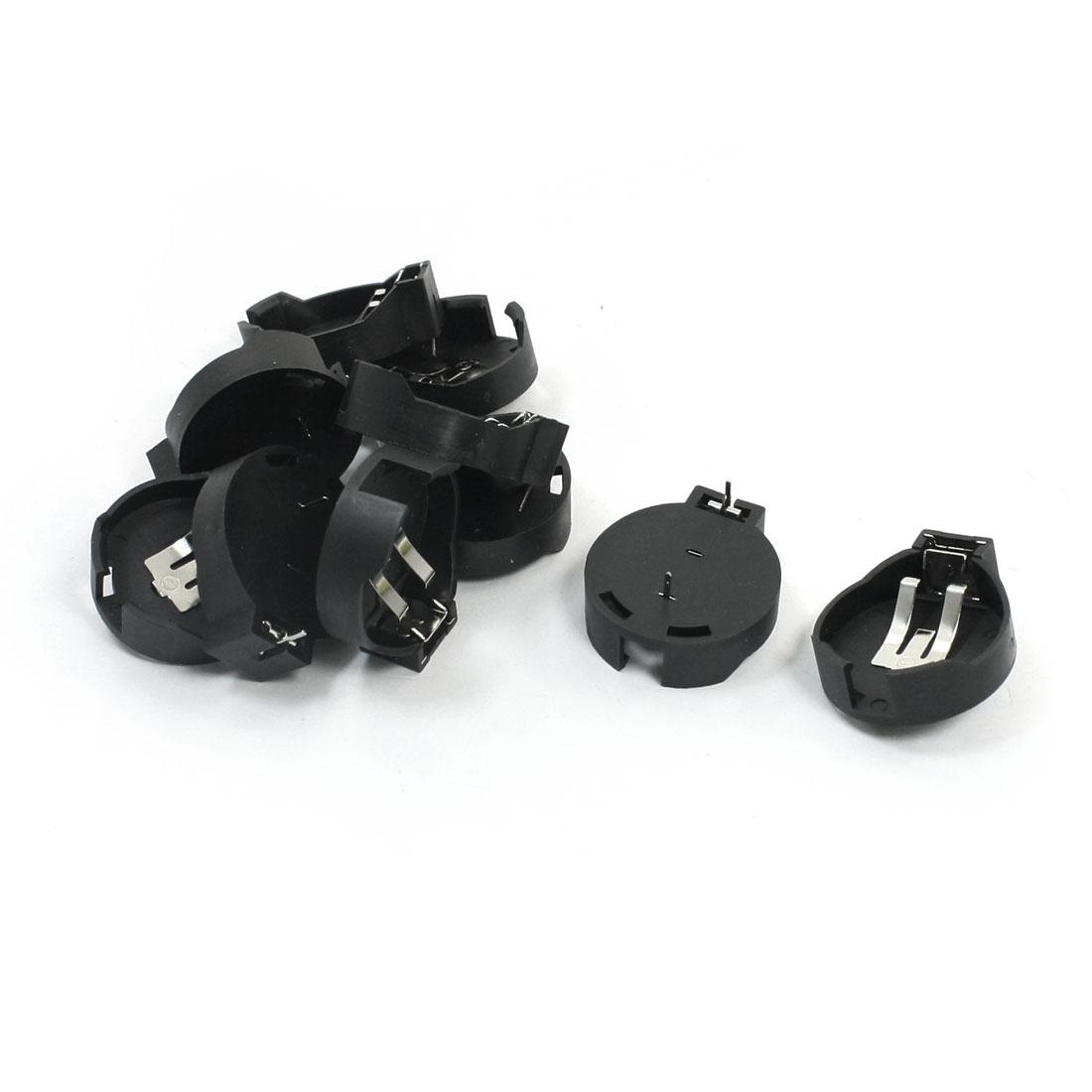 10 Pcs Black Plastic Lithium Coin Cell Button Battery Holder Socket Black for CR2477 Batteries