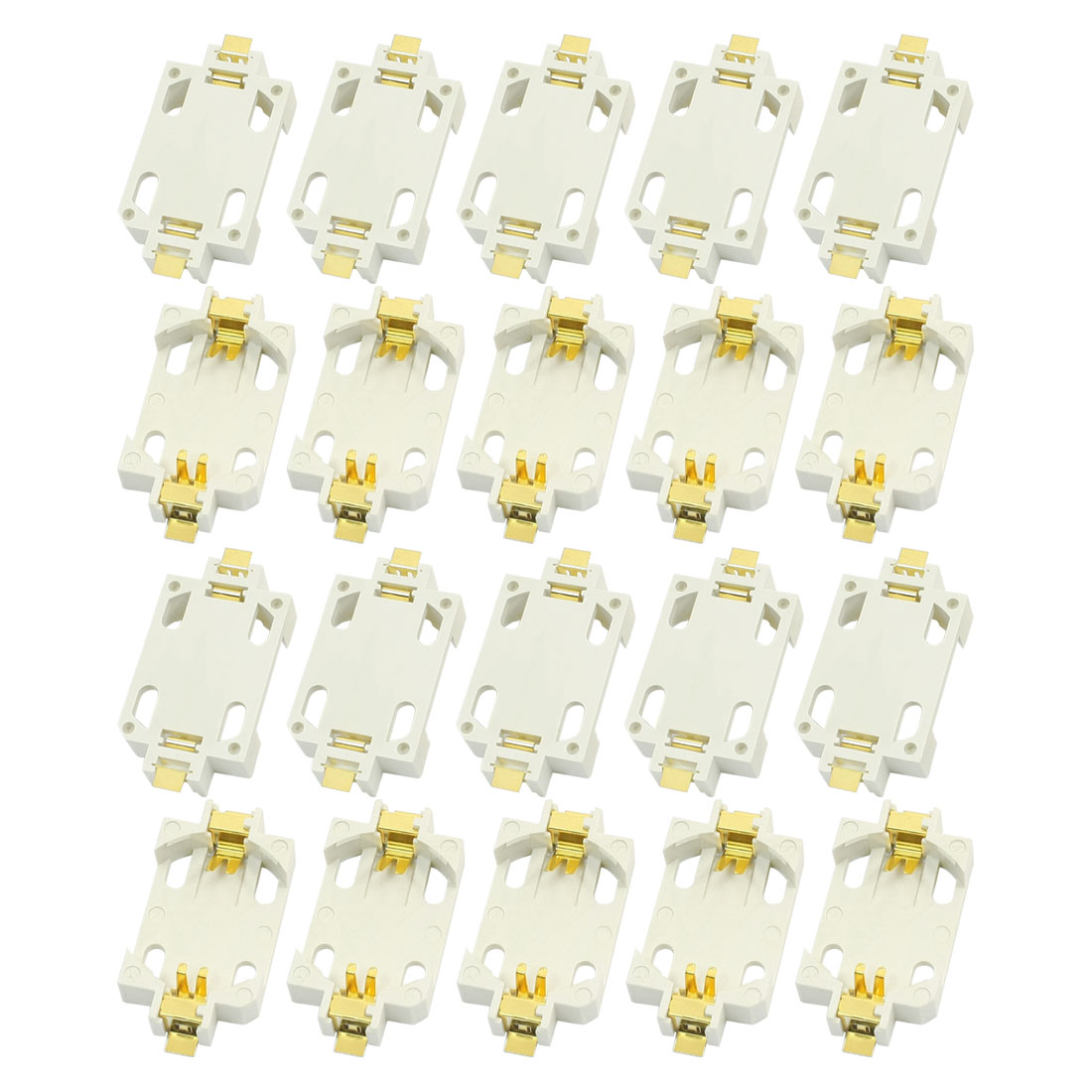 20 PCS White Shell SMD SMT Type CR2032 Cell Button Battery Holder Socket Case Container