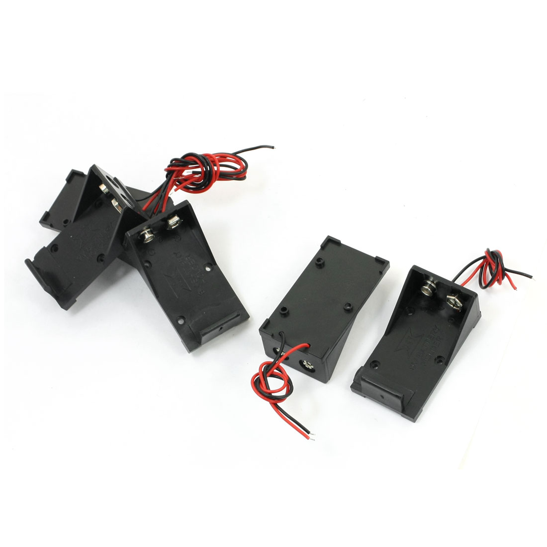 5Pcs Double Wire Open Frame 9V Batteries Holders Cases Boxes Containers