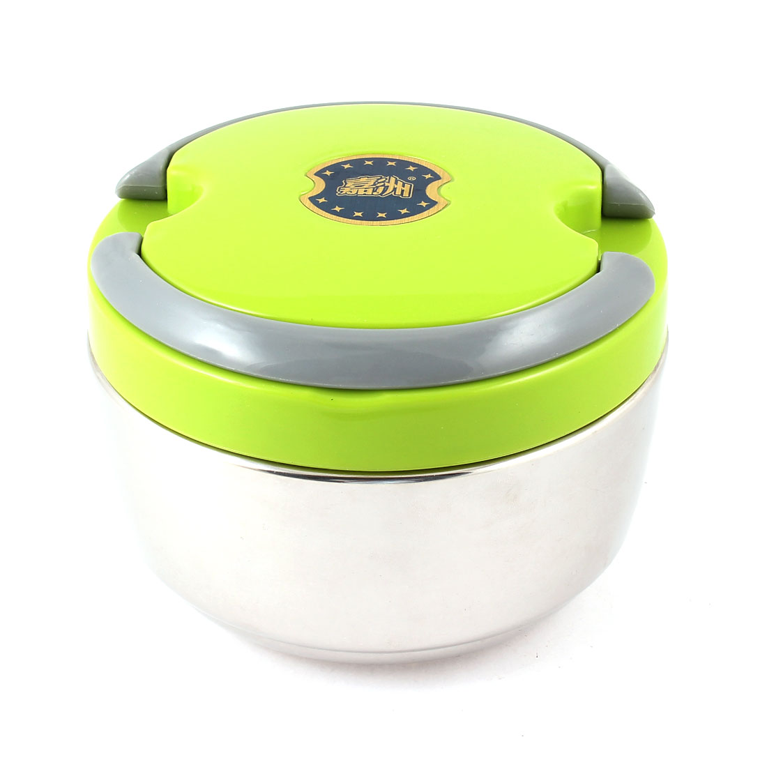 1000ML Capacity Green Plastic Cover Food Dish Container Lunch Box