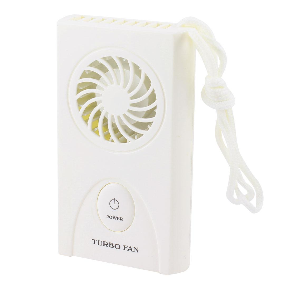 Battery Power White Plastic Rectangle Shape Mini Summer Cooler Fan