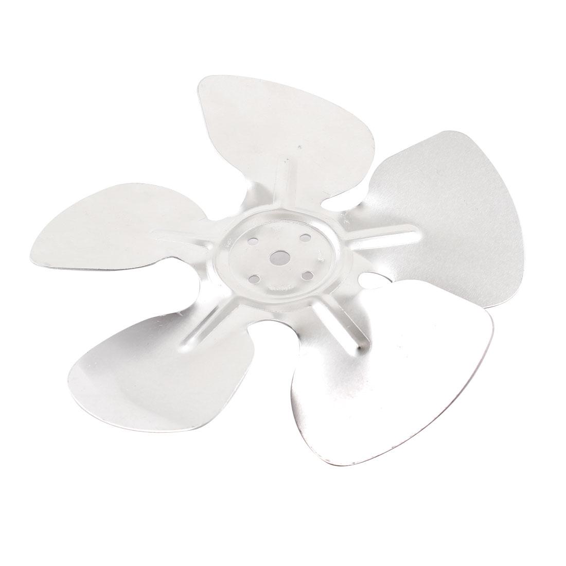 Home Plant Ventilator Exaust Motor Fan Vanes Silver Tone 17cm Diameter