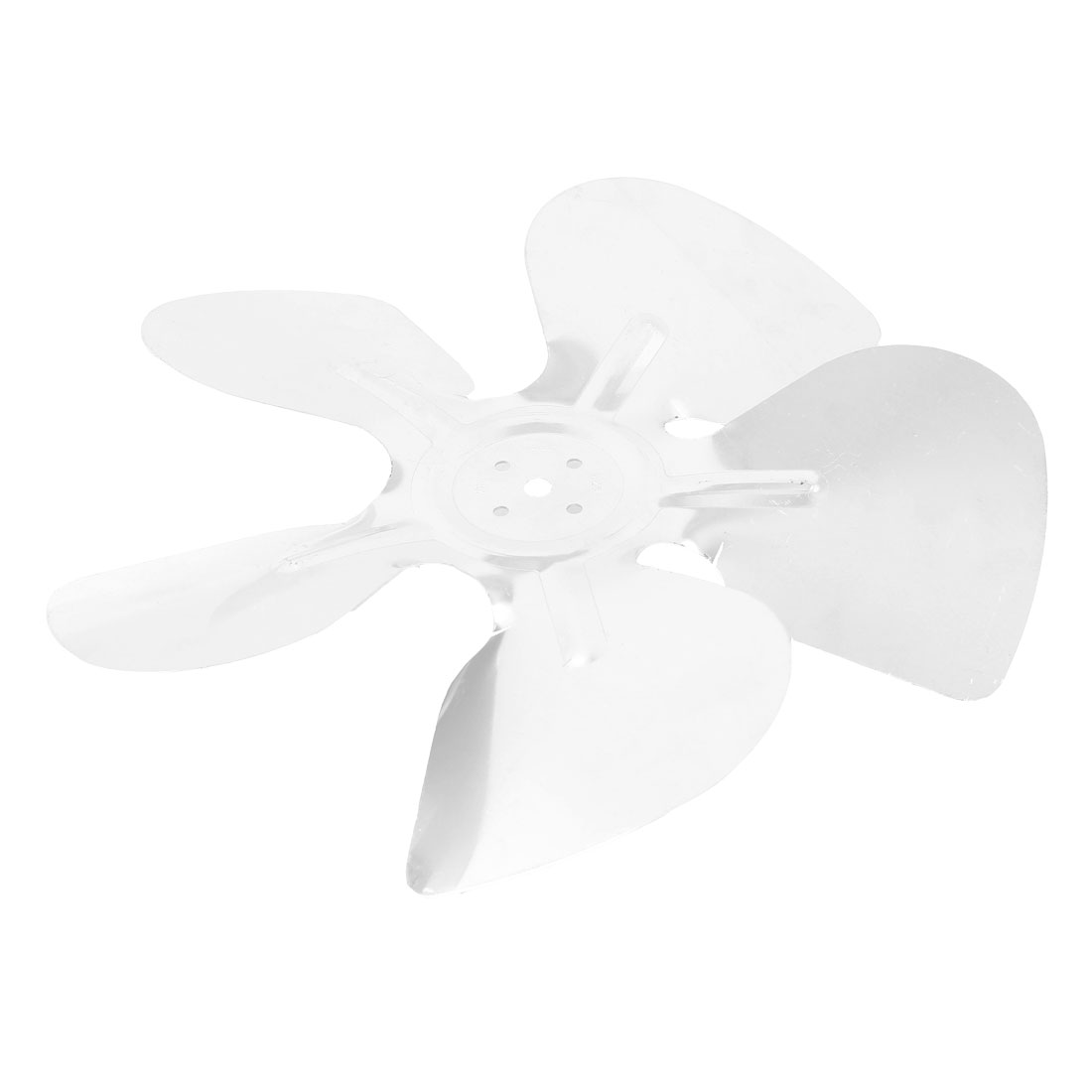 Home Plant Restaurant Kitchen Silver Tone Aluminum Alloy Refrigertor Ventilator Exaust Motor Fan Vanes