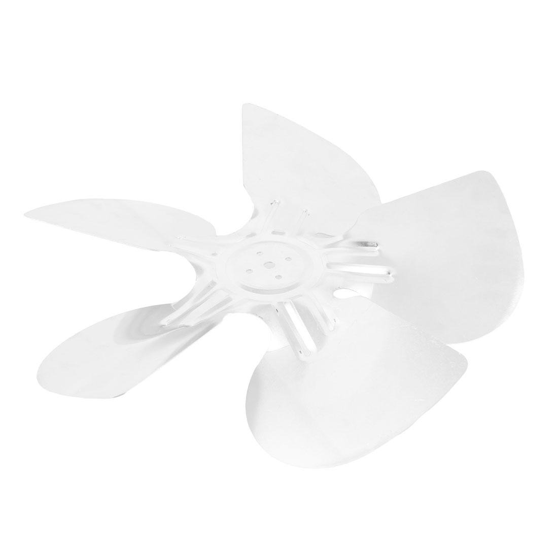 "Home Plant Restaurant Kitchen Silver Tone Aluminum Alloy Refrigertor Ventilator Exaust Motor Fan Vanes Silver Tone 30cm 11.8"" Diameter"
