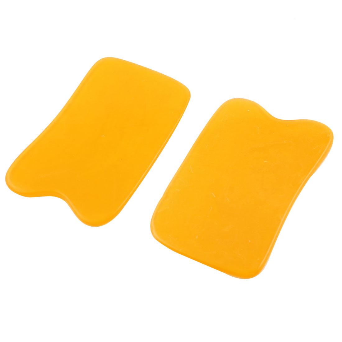 Handy Orange Body Back Guasha Traditional Massage Board Tool 2 Pcs