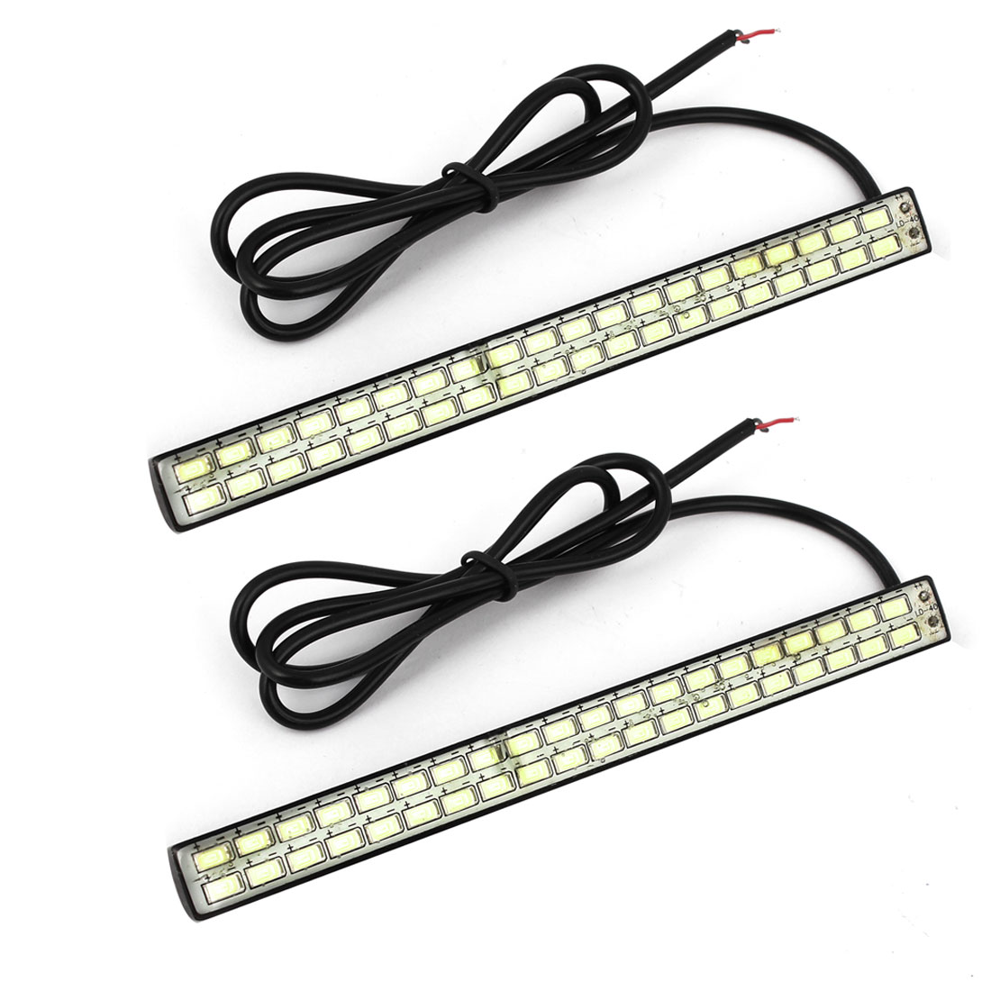 2 Pcs DC 12V 2 Rows White 5630 SMD 42 LED Car Daytime Running Lights Lamps