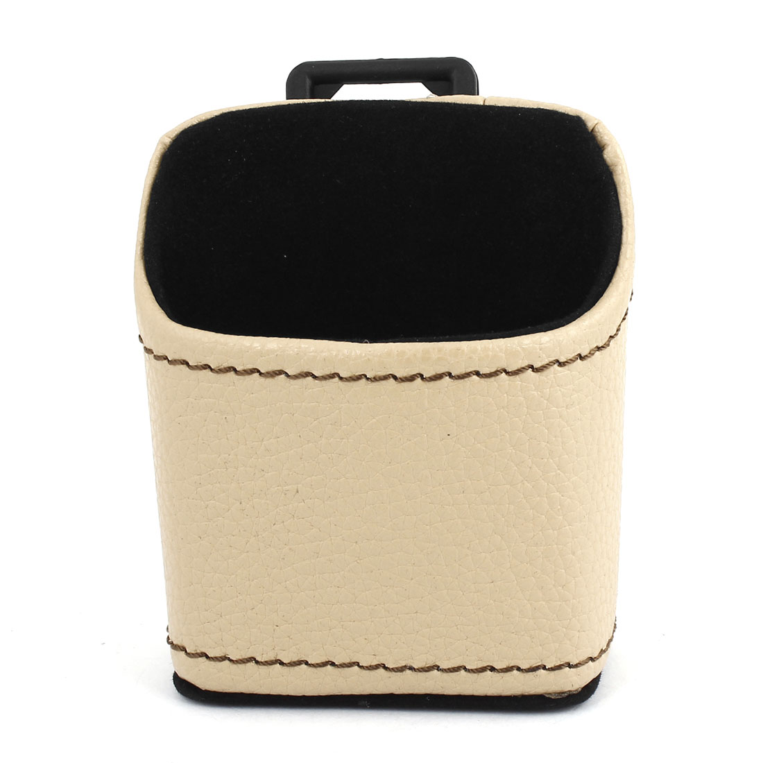 Beige Faux Leather Keys Phone Organizer Case Storage for Car Decoration