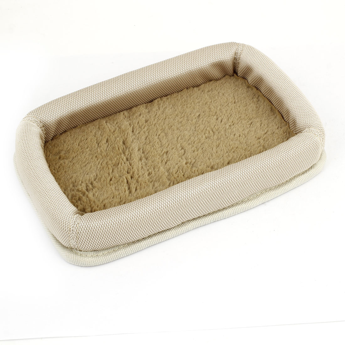 Beige Nylon Plush Car Skid Proof Storage Box Phone Case Sundry Holder