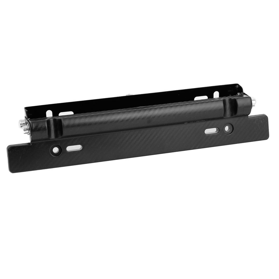 32cm Long Black Plastic License Plate Mount Bracket Number Holder for Auto Car