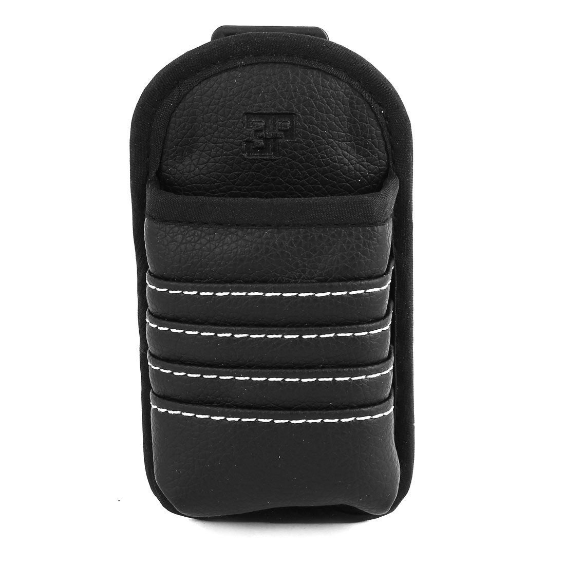 Vehicle Car Black Faux Leather Mobile Phone Pouch Holder Bag