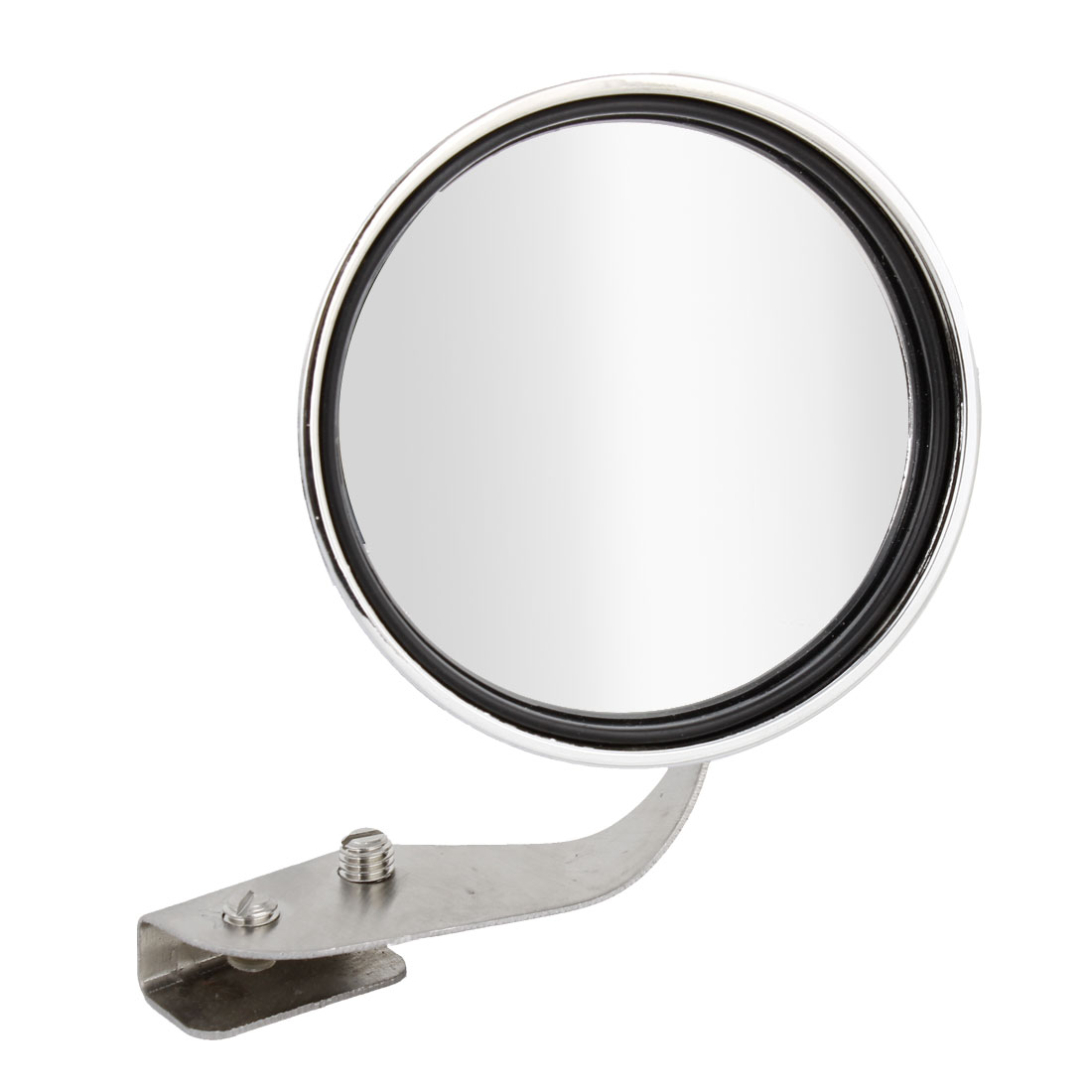 Auto Car Silver Tone Round Shaped Adjustable Angle Left Sideview Assistant Mirror