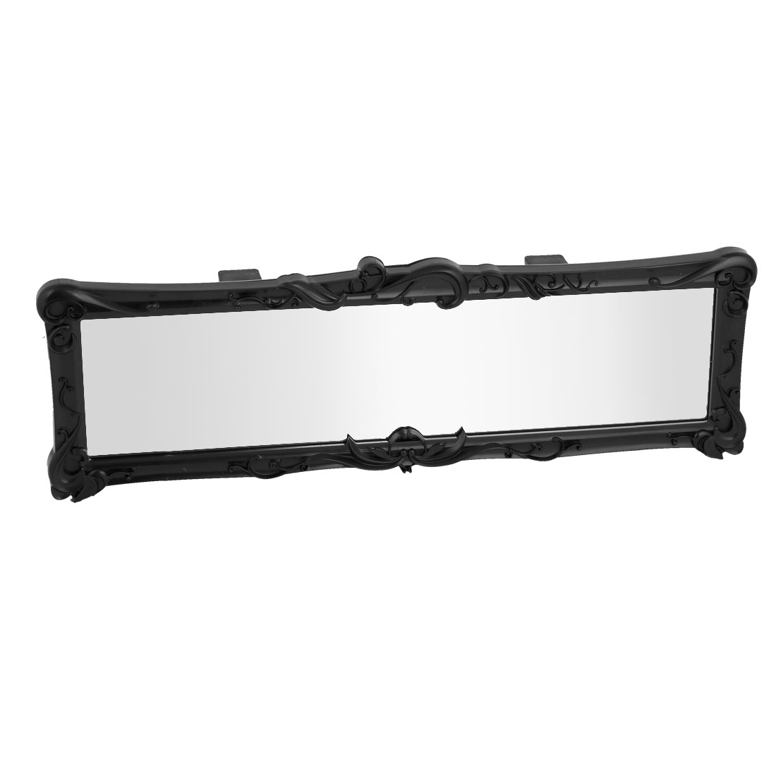 Black Clear Plastic Frame Flat Glass Rearview Mirror for Car Auto