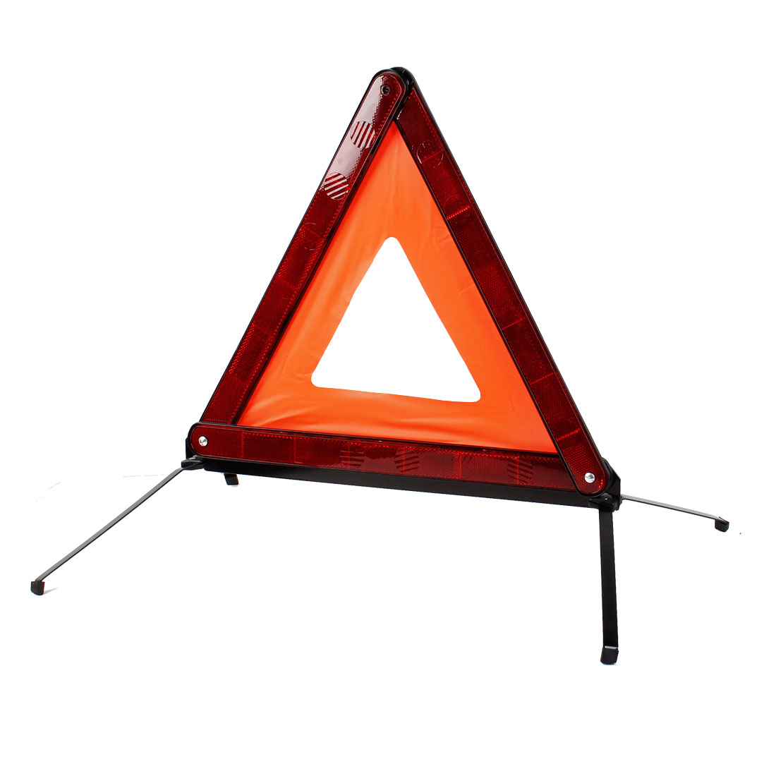 "Road Side Safety Triangles Warning Emergency Marker 17"" Trigonal w Reflective Vest"