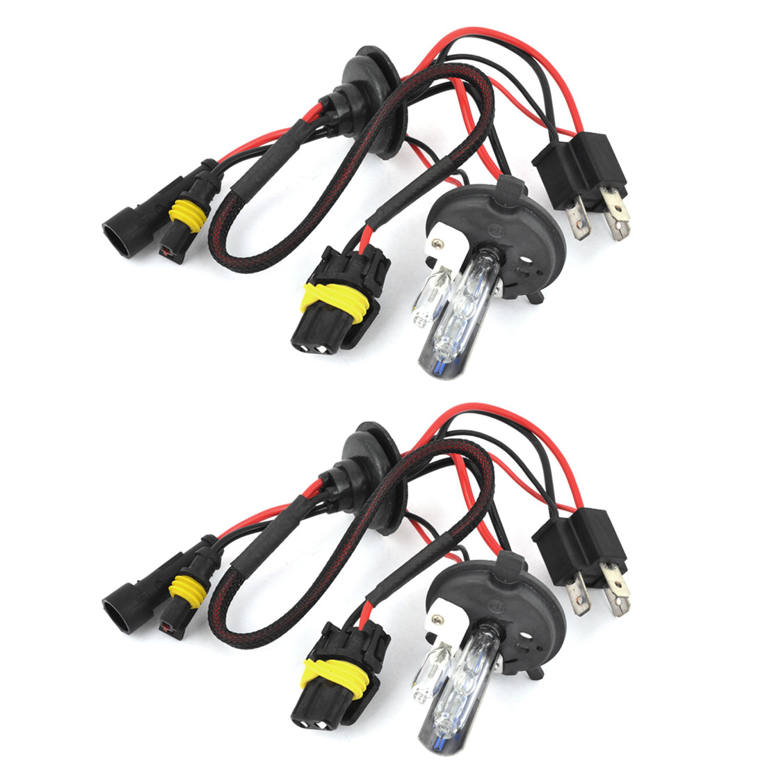 2PCS 12V Xenon HID H4 8000K Hi/Lo Beam Headlamp Light Bulbs