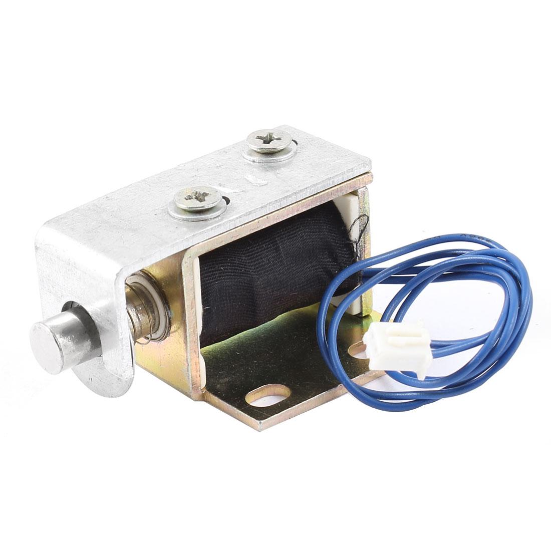 1mm/200g 11mm/50g 1.8W Spring Plunger Pull Type Solenoid Electromagnet DC 6V 0.3A